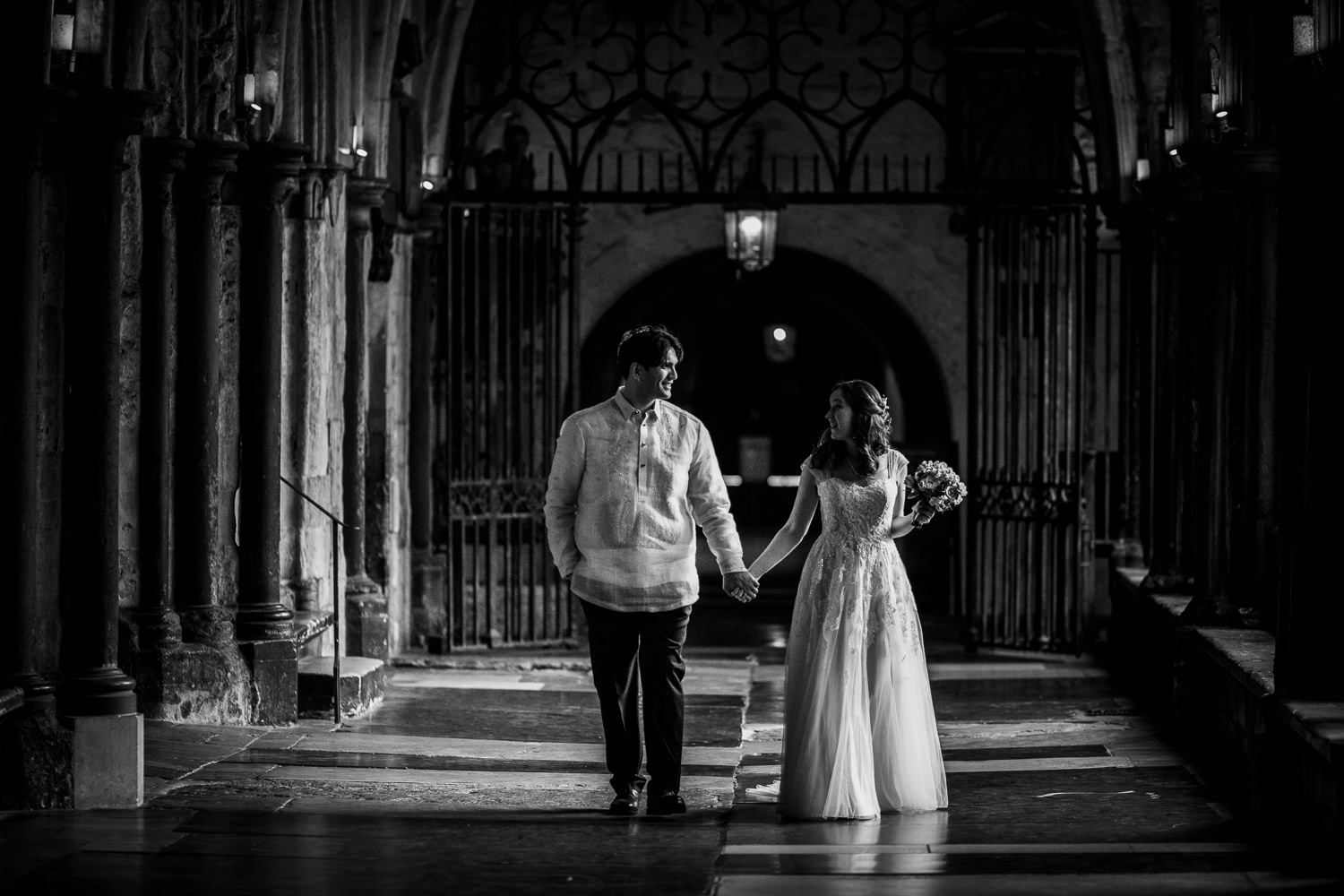 wedding photography inside cloisters westminster abbey