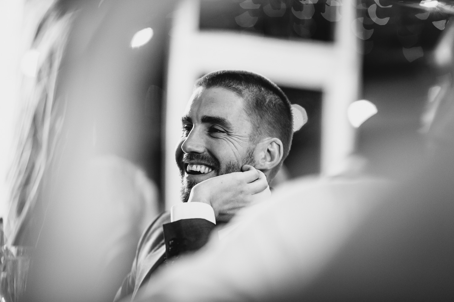 westminster boating base wedding photographer picture of guests laughing